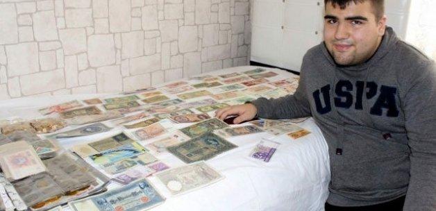 200 ülkenin 15 bin çeşit parasını koleksiyonunda saklıyor