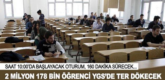 2 Milyon 178 bin öğrenci YGS'de ter dökecek