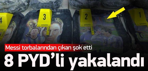 8 PYD'li bombayla yakalandı