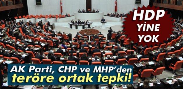 AK Parti, CHP ve MHP'den teröre karşı ortak deklarasyon