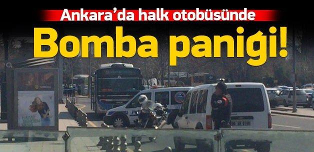 Ankara'da otobüste bomba alarmı!