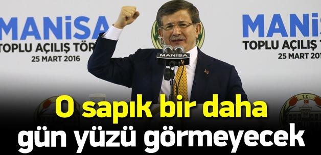 Başbakan Davutoğlu Manisa'da konuşuyor