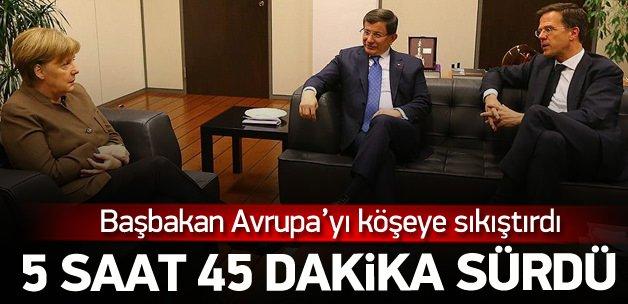 Başbakan Davutoğlu Merkel 5 saat görüştü
