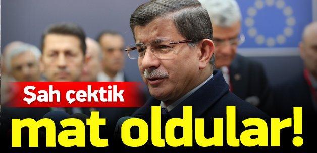 Başbakan Davutoğlu: Şah çektik, mat oldular