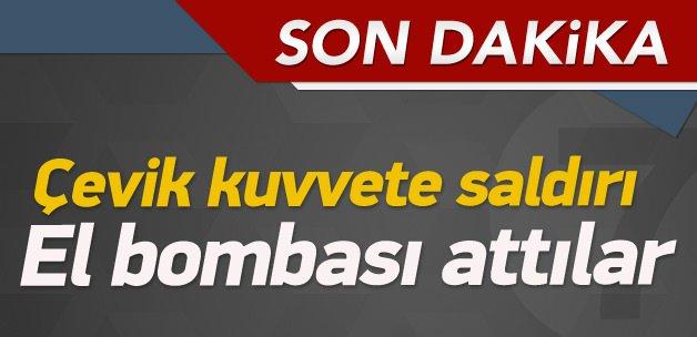Bayrampaşa'da çevik kuvvete saldırı