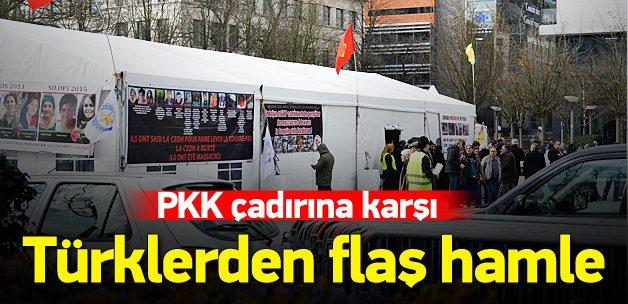 Belçikalı Türklerden PKK'lılara karşı flaş hamle