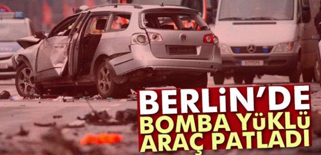 Berlin'de bomba yüklü araç patladı