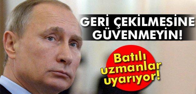 Bloomberg yazarı: 'Putin'in Suriye'den çekilmesine güvenmeyin'
