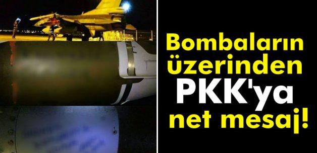 Bombaların üzerinden PKK'ya net mesaj