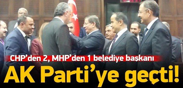 CHP ve MHP belediye başkanları AK Parti'ye geçti