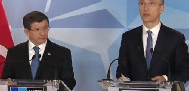 Davutoğlu, NATO Ana Karargahı'nda konuştu
