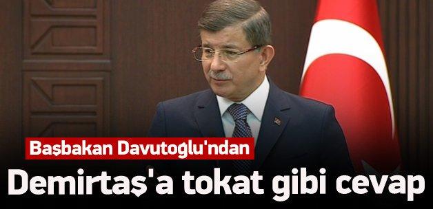 Davutoğlu'ndan Demirtaş'a cevap