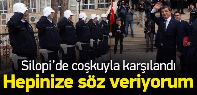Davutoğlu'ndan Silopi'de önemli açıklamalar