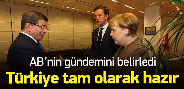 Davutoğlu: Türkiye AB'ye girmeye hazır