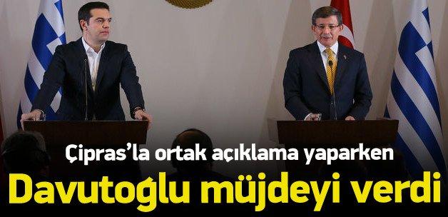 Davutoğlu: Vize muafiyeti Haziran'da başlayacak
