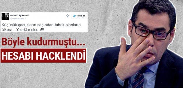 Enver Aysever'in Twitter hesabı hacklendi
