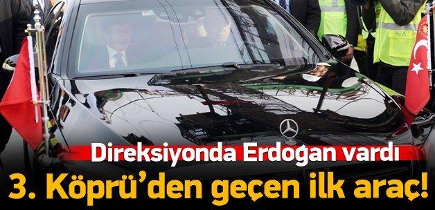 Erdoğan 3. köprüden makam aracıyla da geçti