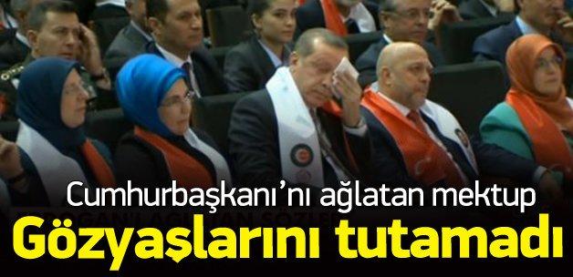 Erdoğan gözyaşlarına hakim olamadı