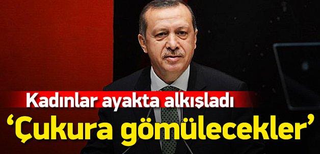 Erdoğan Kadın Kurultayı'nda konuştu