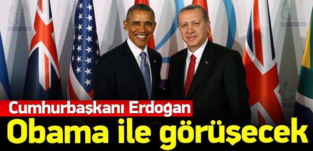 Erdoğan Obama'yla görüşecek