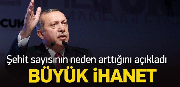 Erdoğan: Paralelci asker ve polisin ihaneti var