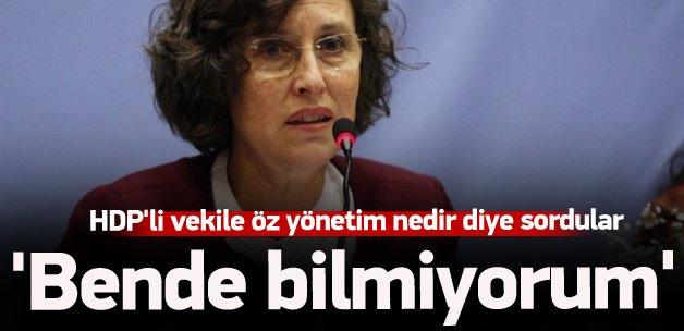 HDP'li vekile öz yönetim nedir sorusu