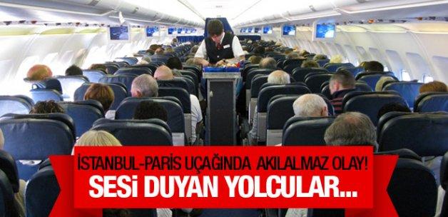 İstanbul-Paris uçağında akılalmaz olay!