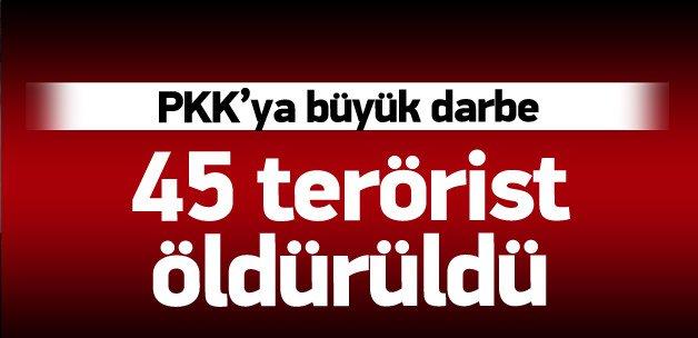 Kandil ve Gara vuruldu, 45 terörist öldürüldü