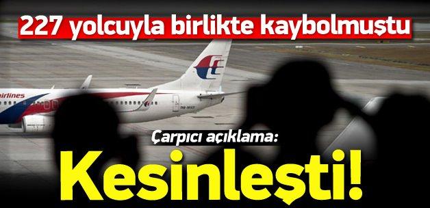 Kayıp uçakla ilgili çarpıcı açıklama: Kesinleşti!