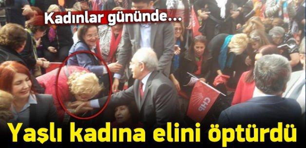 Kılıçdaroğlu '8 Mart'ta kadına elini öptürdü