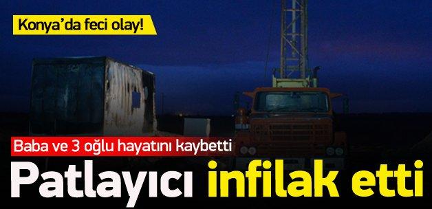 Konya'da el yapımı düzenek patladı: 4 ölü