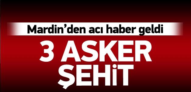 Mardin Dargeçit'ten acı haber: 3 şehit