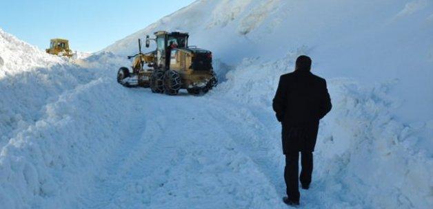 Muş'ta karla mücadele çalışmaları