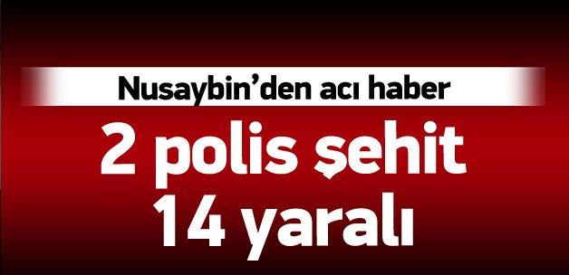 Nusaybin'de hain tuzak: İki polis şehit