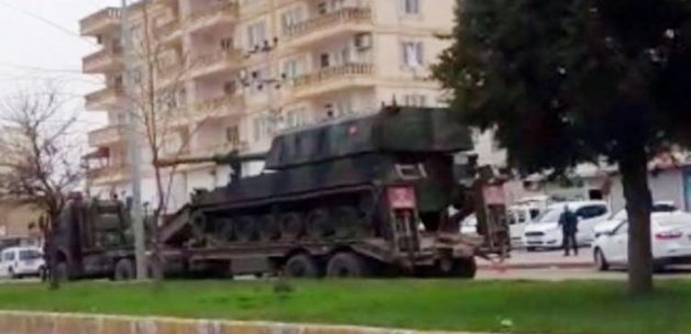 Nusaybin'e askeri sevkiyatı