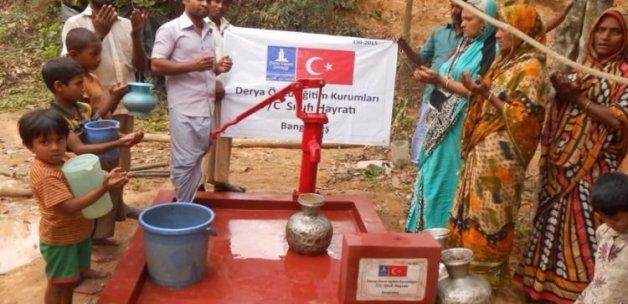 Öğrenci harçlıklarıyla 3 su kuyusu açıldı