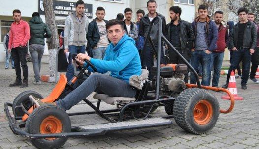 Öğrenciler hurdadan Go-Kart aracı yaptı
