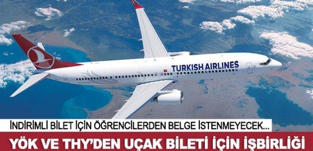 Öğrencilere indirimli uçak bileti için işbirliği