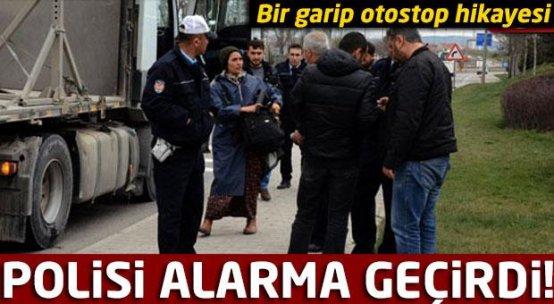 Otostopçu kadın polisi alarma geçirdi