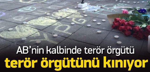 PKK'lılar Brüksel'de terörü protesto etti