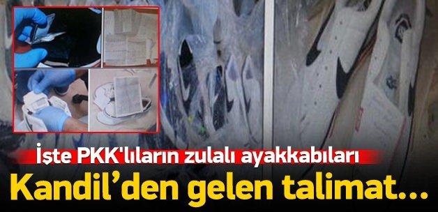PKK'lıların zulalı ayakkabıları