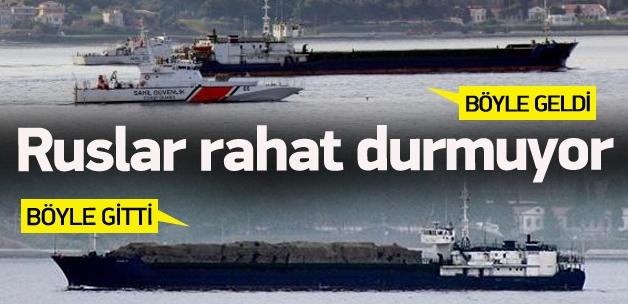 Rus askeri gemisi böyle gitti böyle geldi