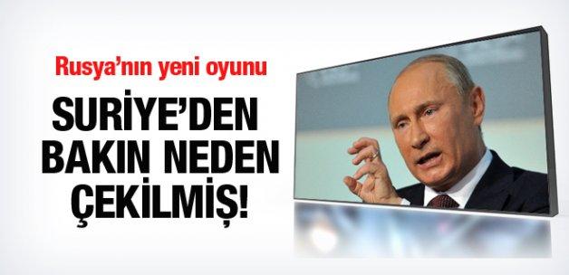 Rusya bakın neden Suriye'den geri çekilmiş!