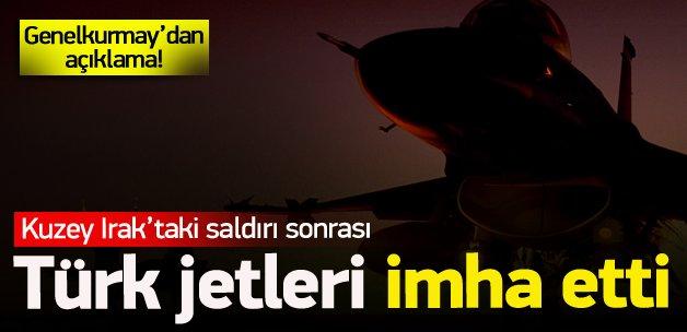 Saldırının ardından Türk jetleri imha etti