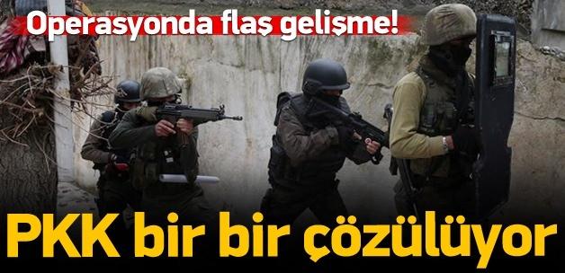 Sur'da 13 PKK'lı daha teslim oldu