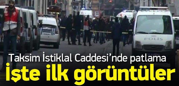 Taksim'deki patlama işte ilk görüntüler