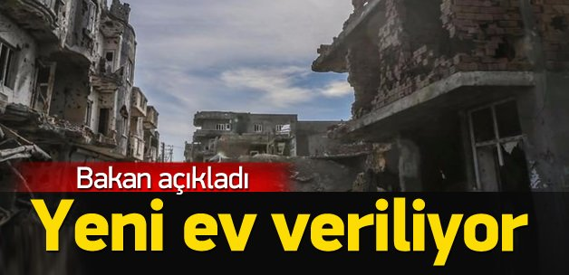 Terörün vurduğu binalar için para yardımı