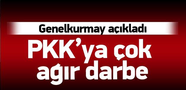 TSK açıkladı: Terör örgütü PKK'ya büyük darbe