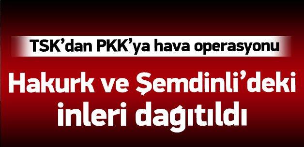 TSK: Hava harekatında PKK hedefleri vuruldu