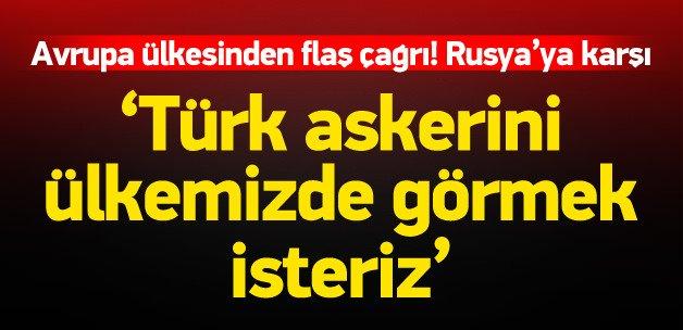 'Türk askerini ülkemizde görmekten memnun oluruz'